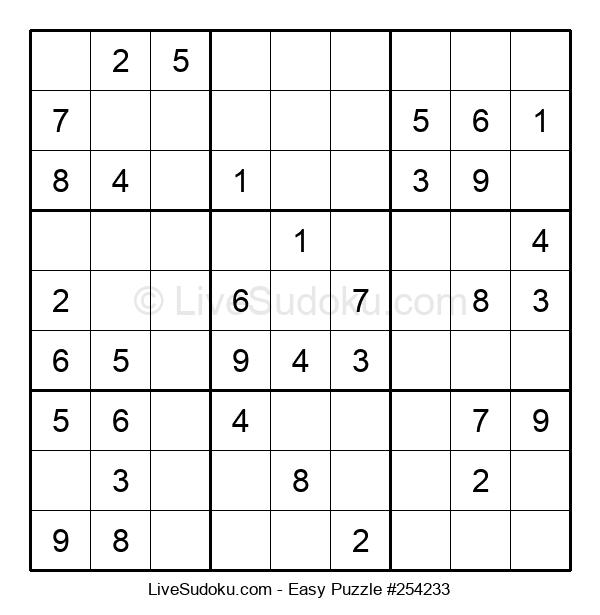 Beginners Puzzle #254233