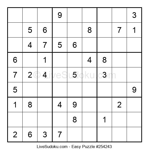 Beginners Puzzle #254243