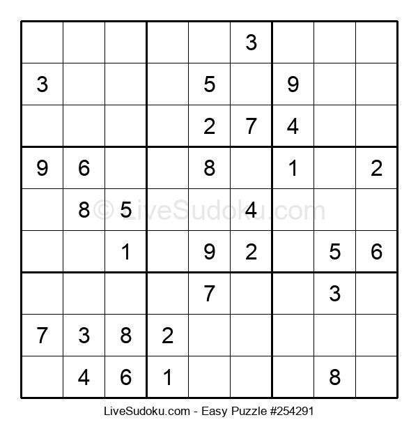 Beginners Puzzle #254291