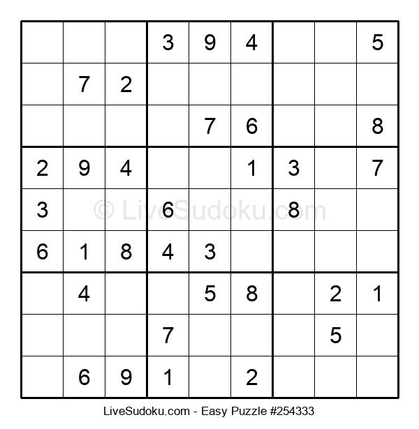 Beginners Puzzle #254333