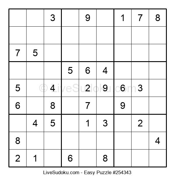 Beginners Puzzle #254343