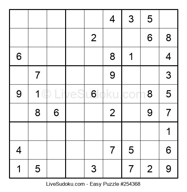 Beginners Puzzle #254368