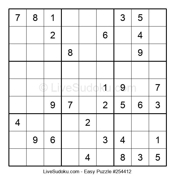 Beginners Puzzle #254412