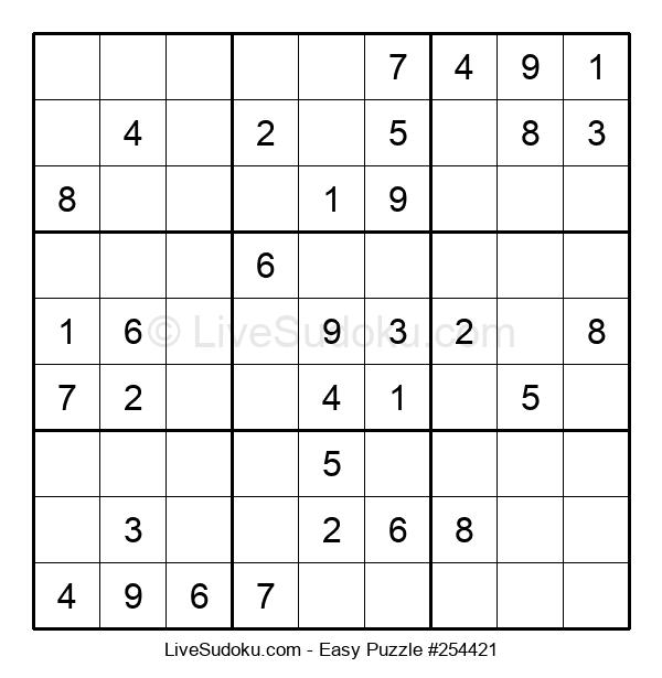 Beginners Puzzle #254421