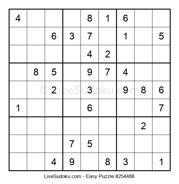 Beginners Puzzle #254488