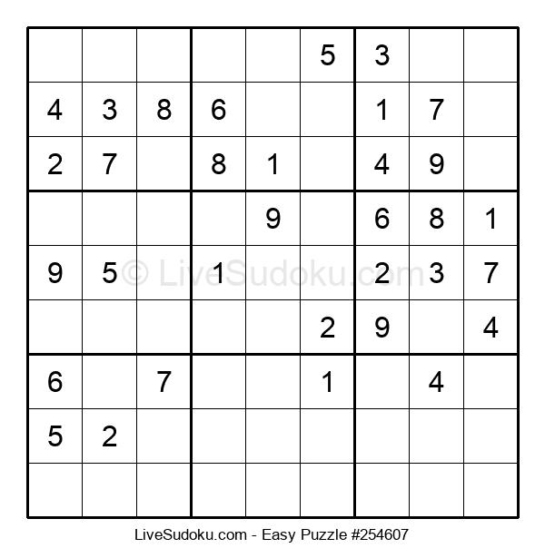 Beginners Puzzle #254607