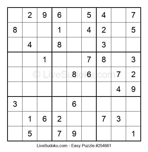 Beginners Puzzle #254661