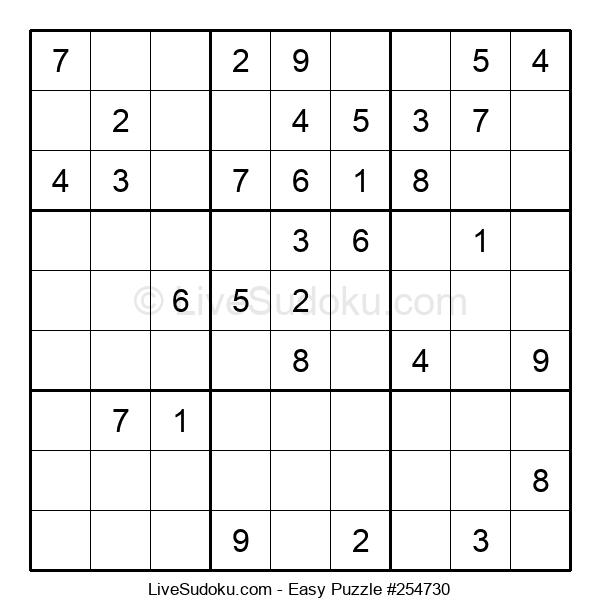 Beginners Puzzle #254730