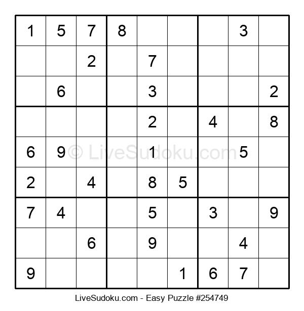 Beginners Puzzle #254749