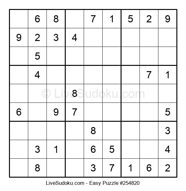 Beginners Puzzle #254820