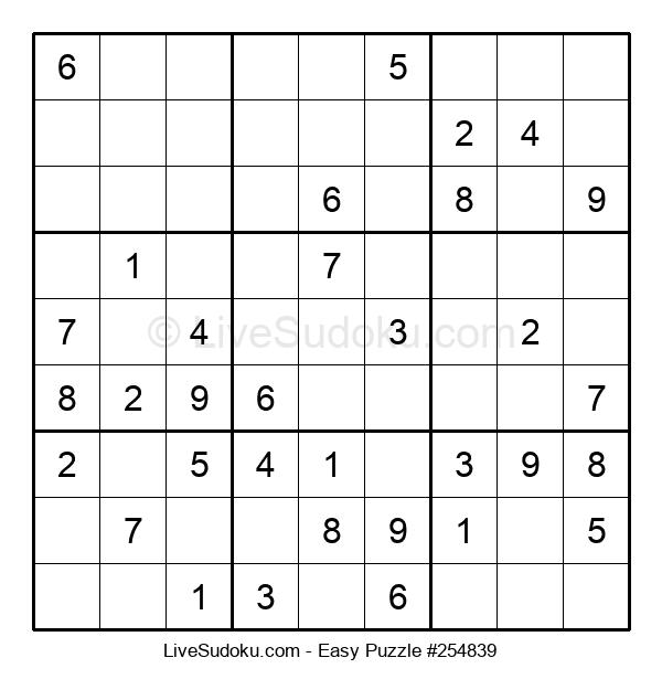 Beginners Puzzle #254839
