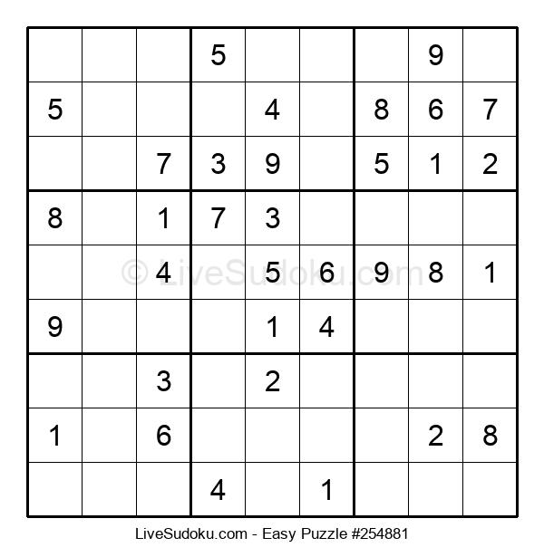 Beginners Puzzle #254881