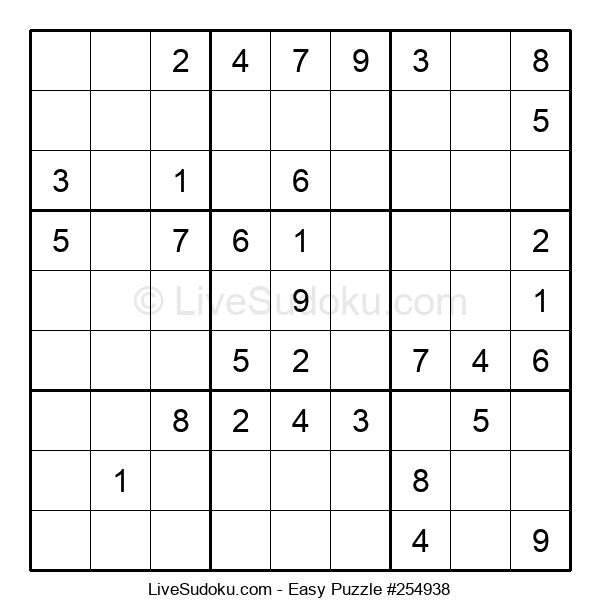Beginners Puzzle #254938