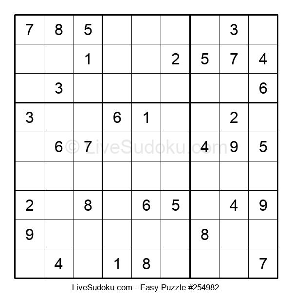 Beginners Puzzle #254982