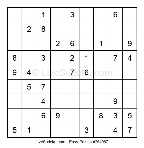 Beginners Puzzle #254987