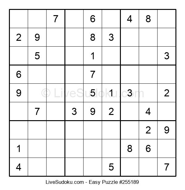 Beginners Puzzle #255189