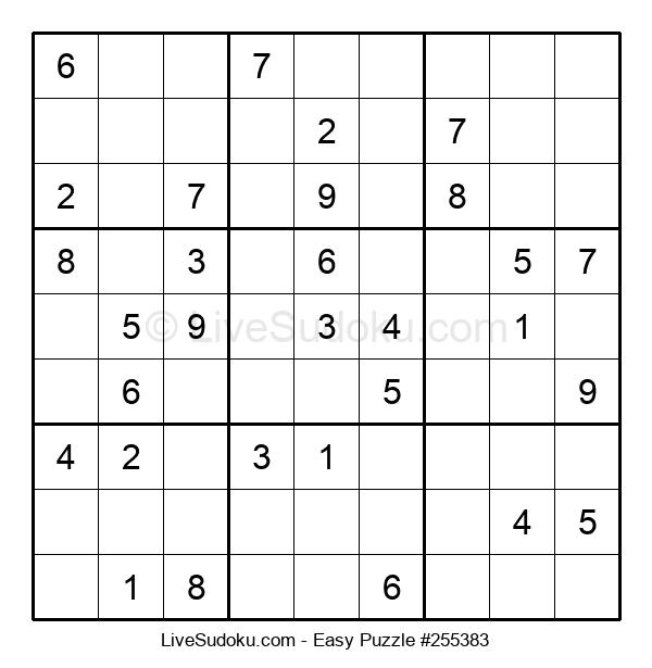 Beginners Puzzle #255383
