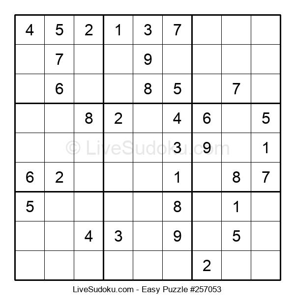Beginners Puzzle #257053