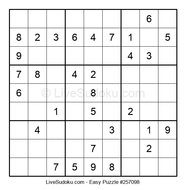Beginners Puzzle #257098