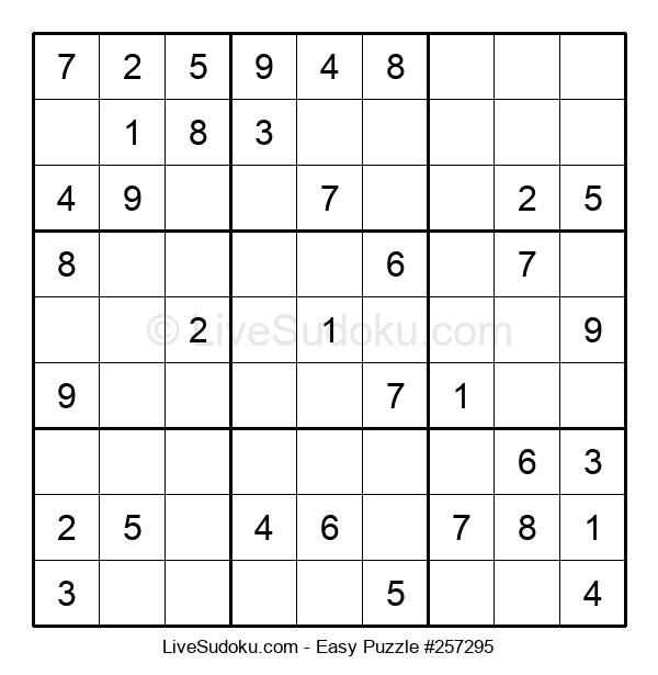 Beginners Puzzle #257295