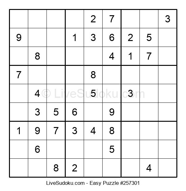 Beginners Puzzle #257301