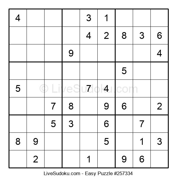 Beginners Puzzle #257334