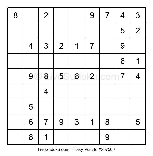 Beginners Puzzle #257509