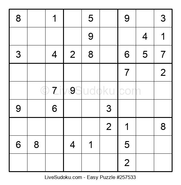 Beginners Puzzle #257533