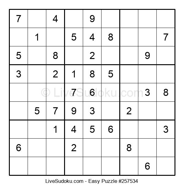 Beginners Puzzle #257534