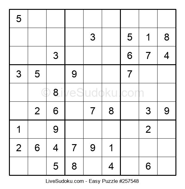 Beginners Puzzle #257548
