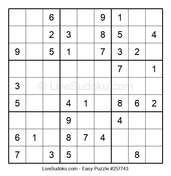 Beginners Puzzle #257743
