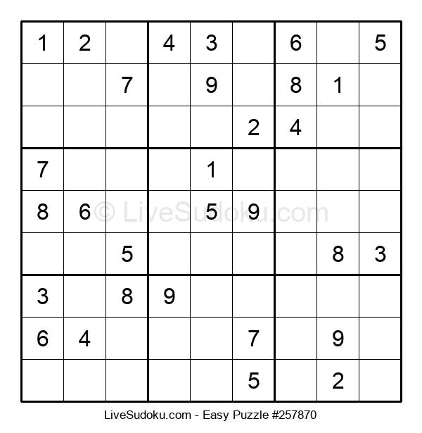 Beginners Puzzle #257870