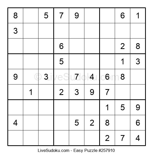 Beginners Puzzle #257910