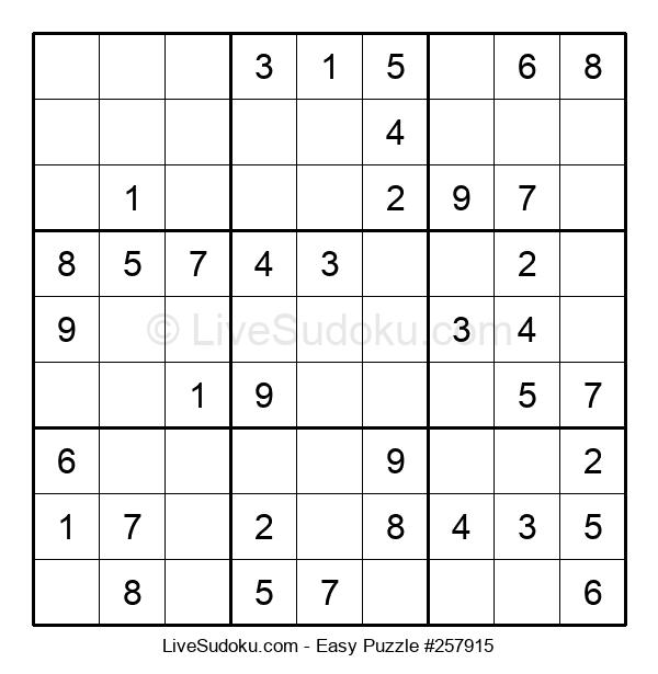 Beginners Puzzle #257915