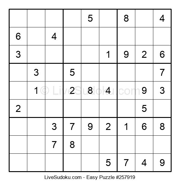 Beginners Puzzle #257919