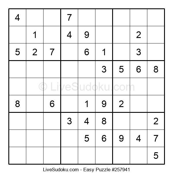 Beginners Puzzle #257941