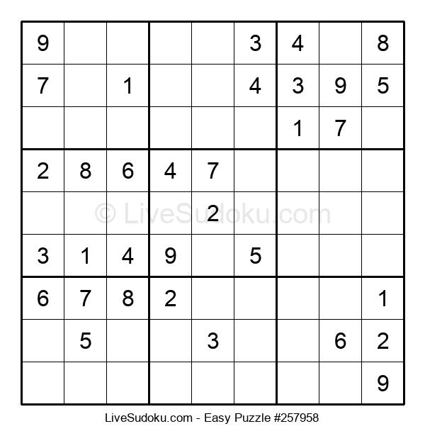 Beginners Puzzle #257958