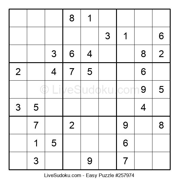 Beginners Puzzle #257974