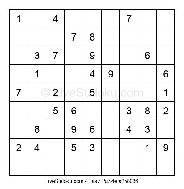 Beginners Puzzle #258036