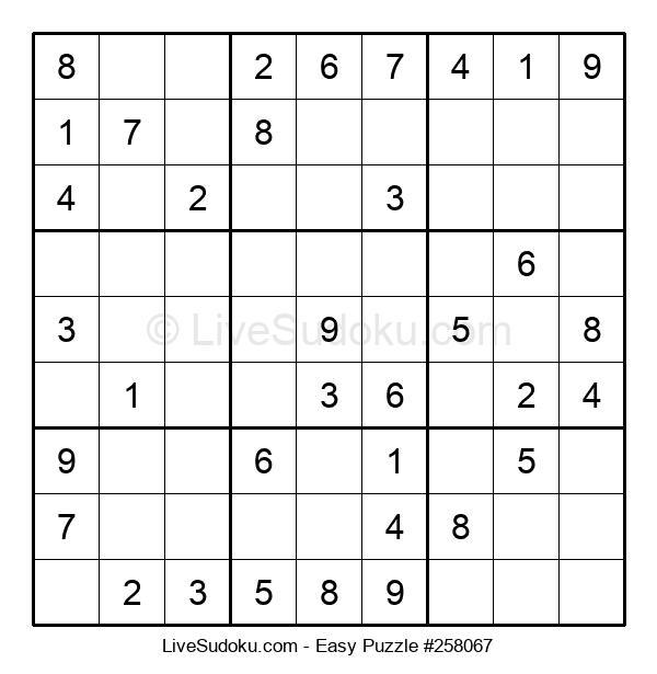 Beginners Puzzle #258067