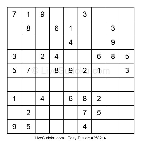 Beginners Puzzle #258214