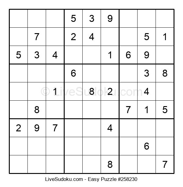Beginners Puzzle #258230