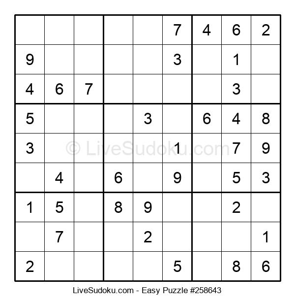 Beginners Puzzle #258643