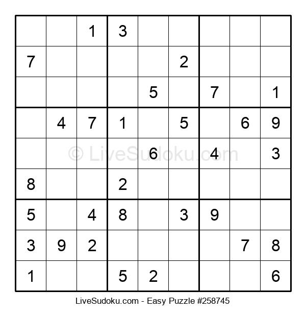 Beginners Puzzle #258745