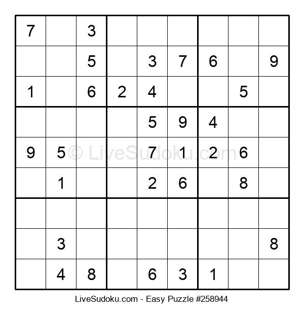 Beginners Puzzle #258944