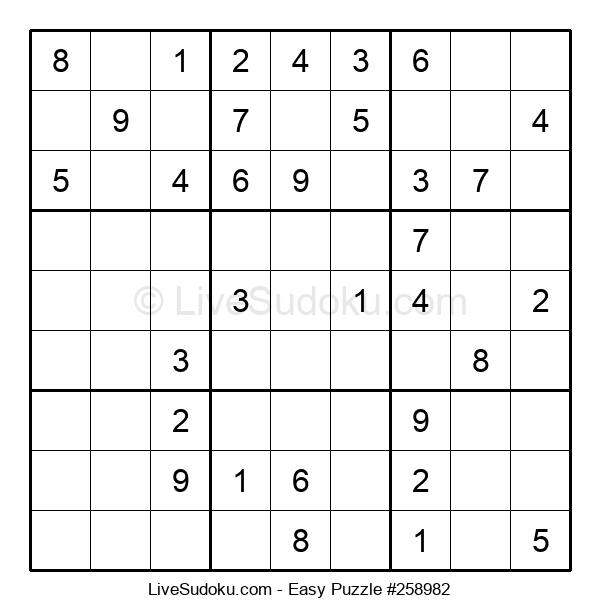 Beginners Puzzle #258982