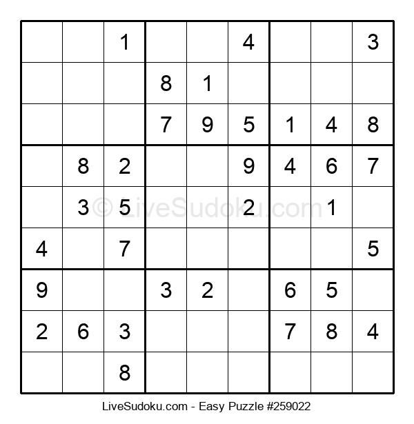 Beginners Puzzle #259022