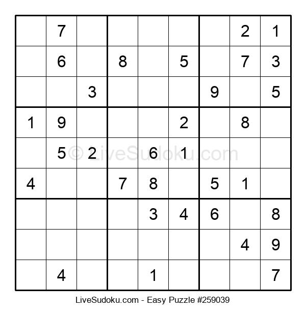 Beginners Puzzle #259039