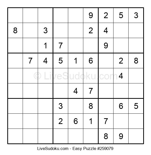 Beginners Puzzle #259079