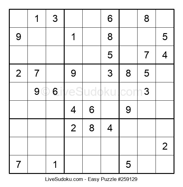 Beginners Puzzle #259129